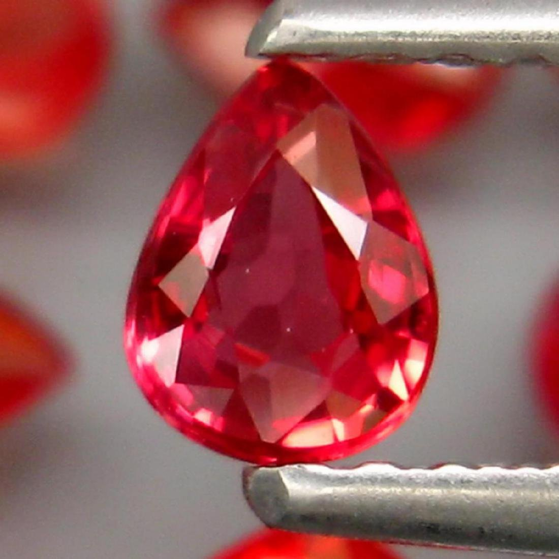 Natural Pear Red Sapphire 3.86 Cts - 2
