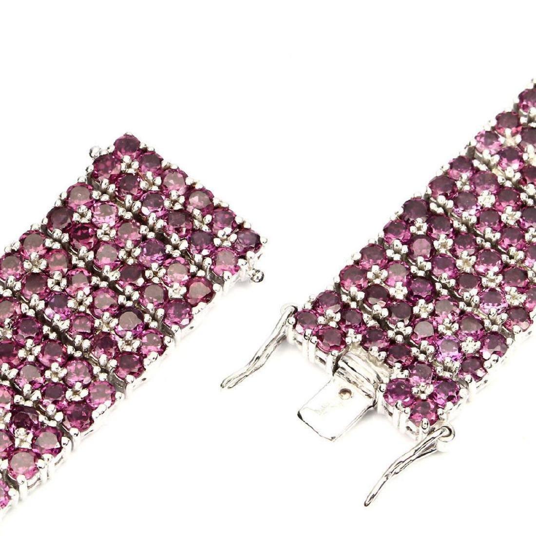 Natural Stunning Raspberry Rhodolite Garnet Bracelet - 3