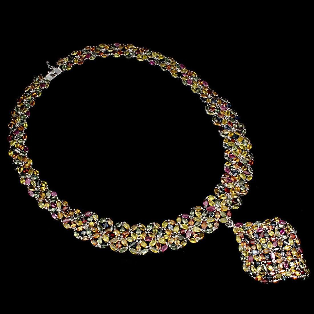 Natural Fancy Sapphire 563 Carats Necklace - 2