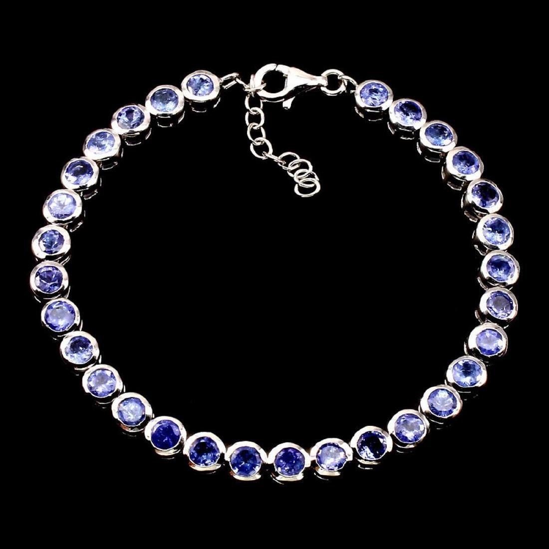 Natural Blue Violet Tanzanite 86.35 cts Bracelet - 2