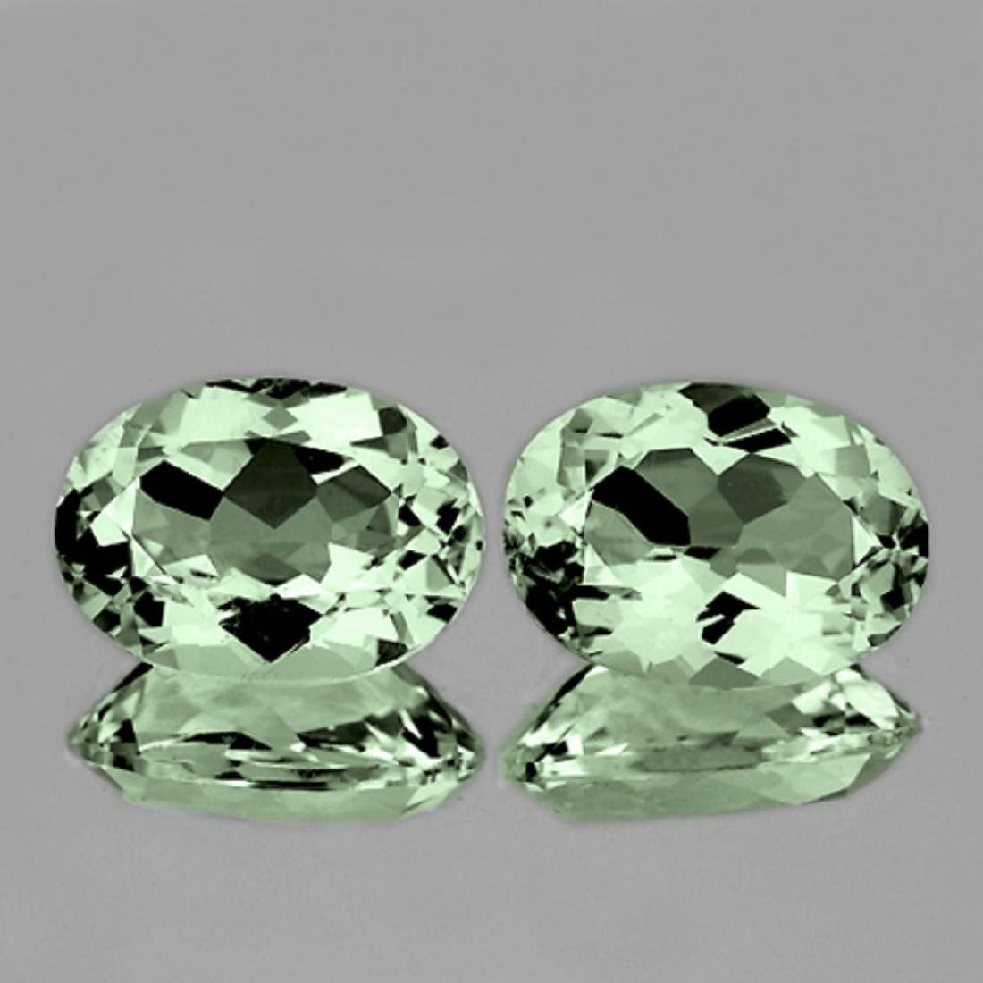 NATURAL Light GREEN Tea AMETHYST Pair 14x10 Mm - FL