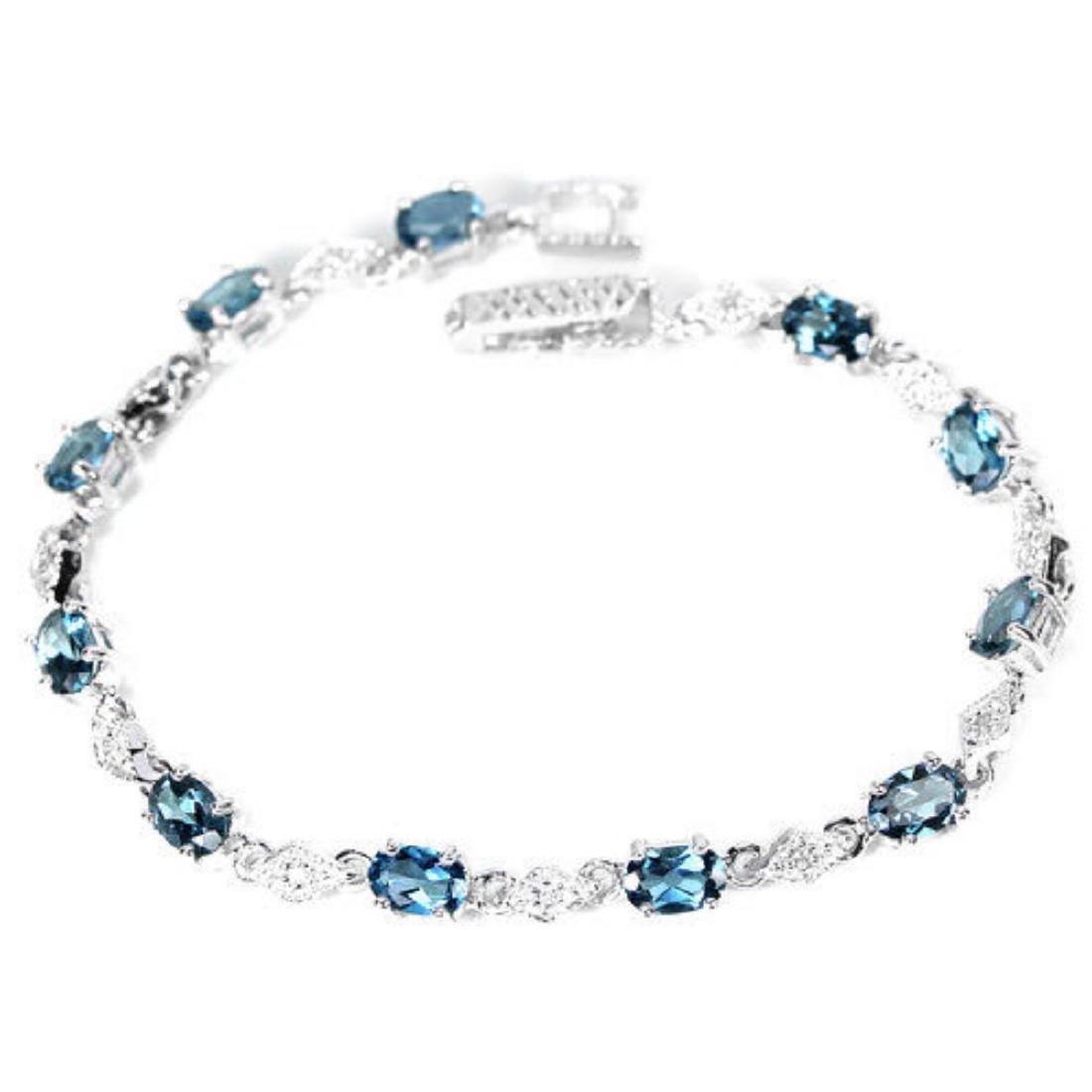 Natural AAA LONDON BLUE TOPAZ  Bracelet