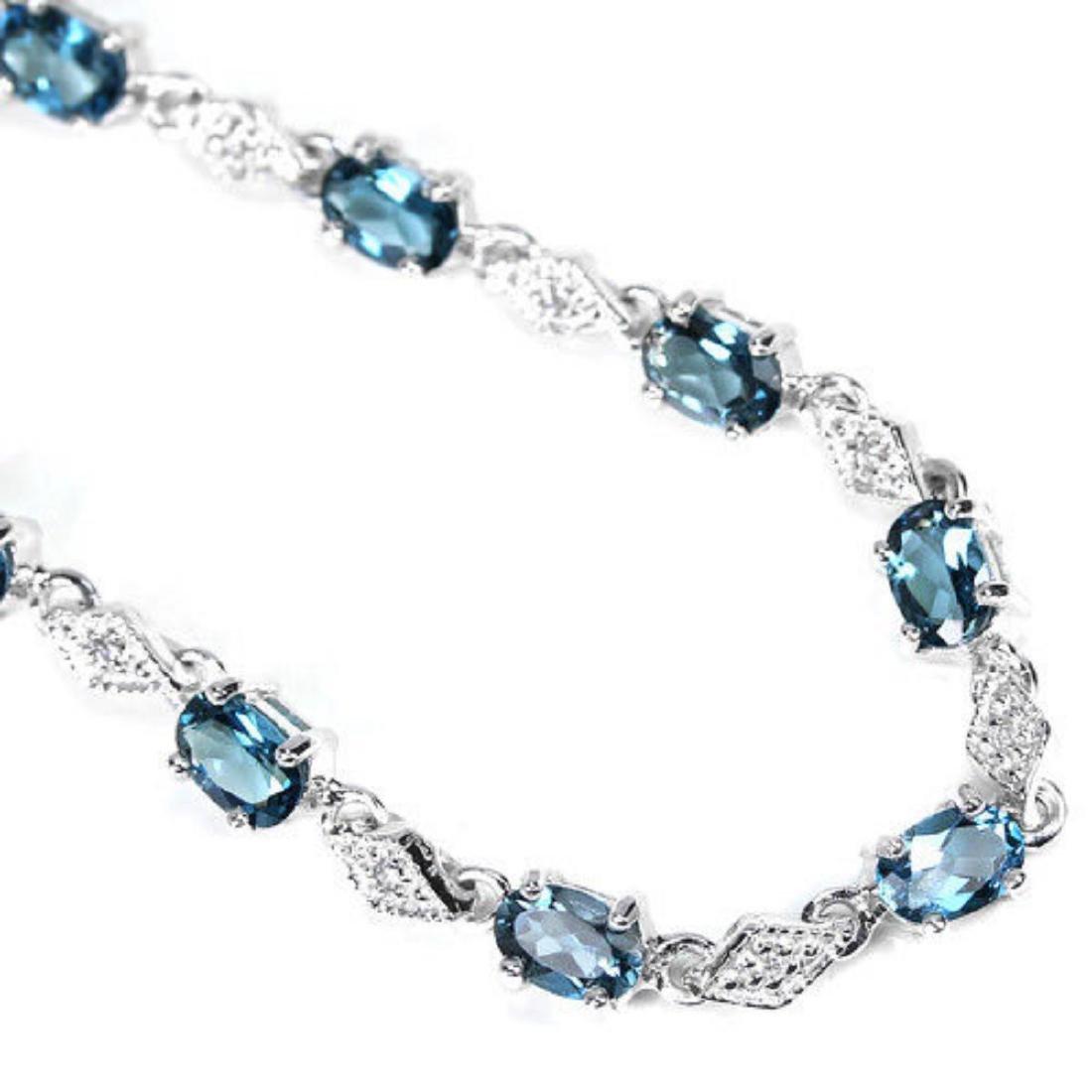 Natural AAA LONDON BLUE TOPAZ  Bracelet - 2