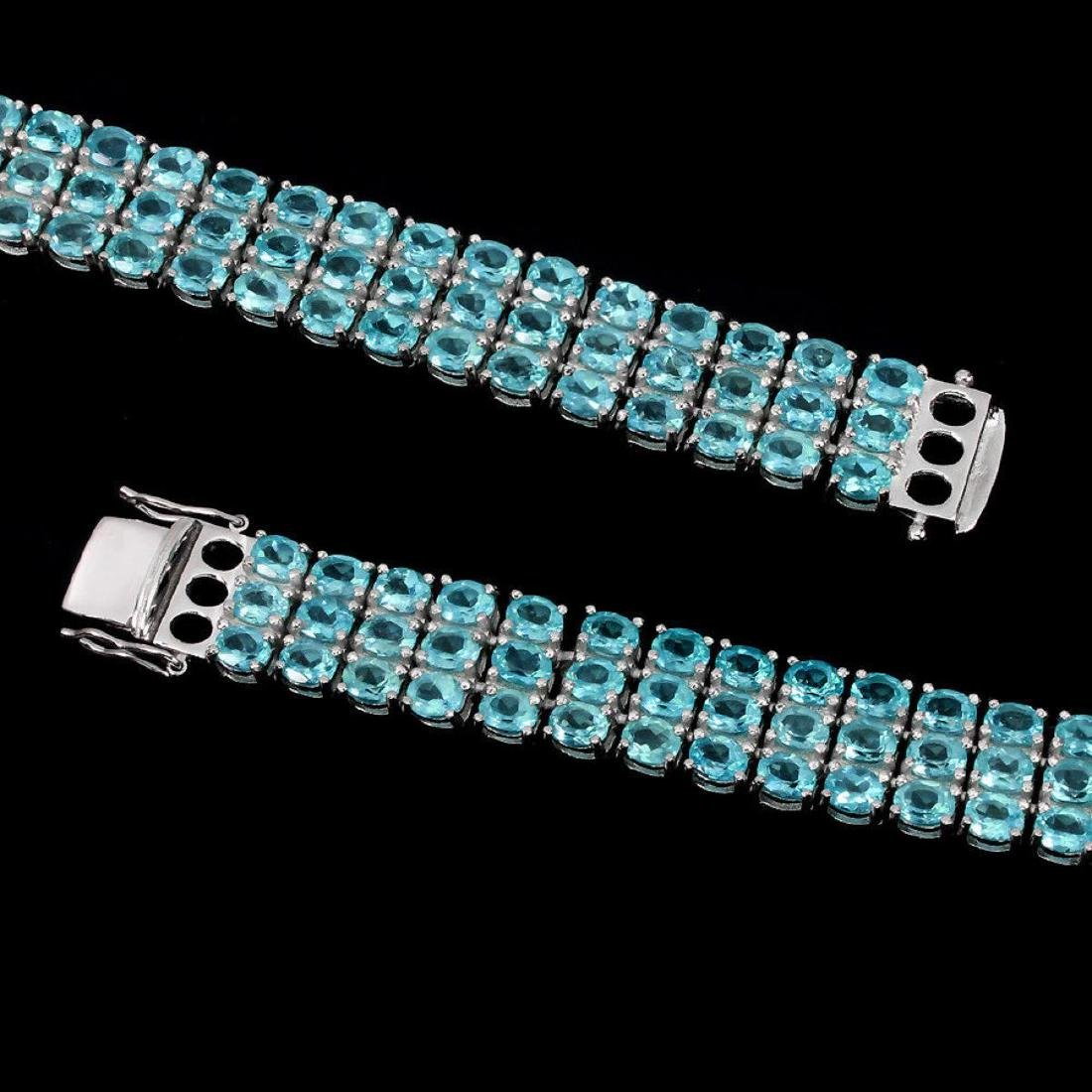 Natural Brazil Blue Apatite 169 Carats Bracelet - 3