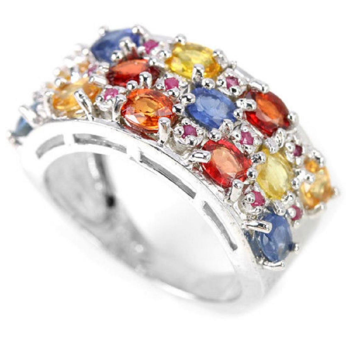 Natural  MULTI COLOR SAPPHIRE & RUBY Ring - 2