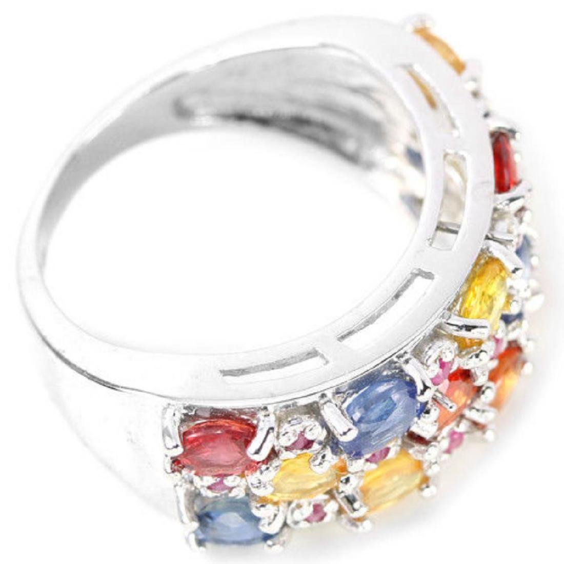 Natural  MULTI COLOR SAPPHIRE & RUBY Ring - 3