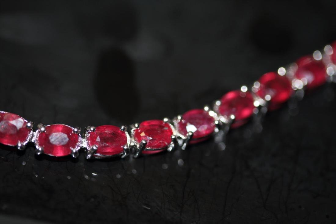 Natural Red Ruby 51 Carats Bracelet - 2