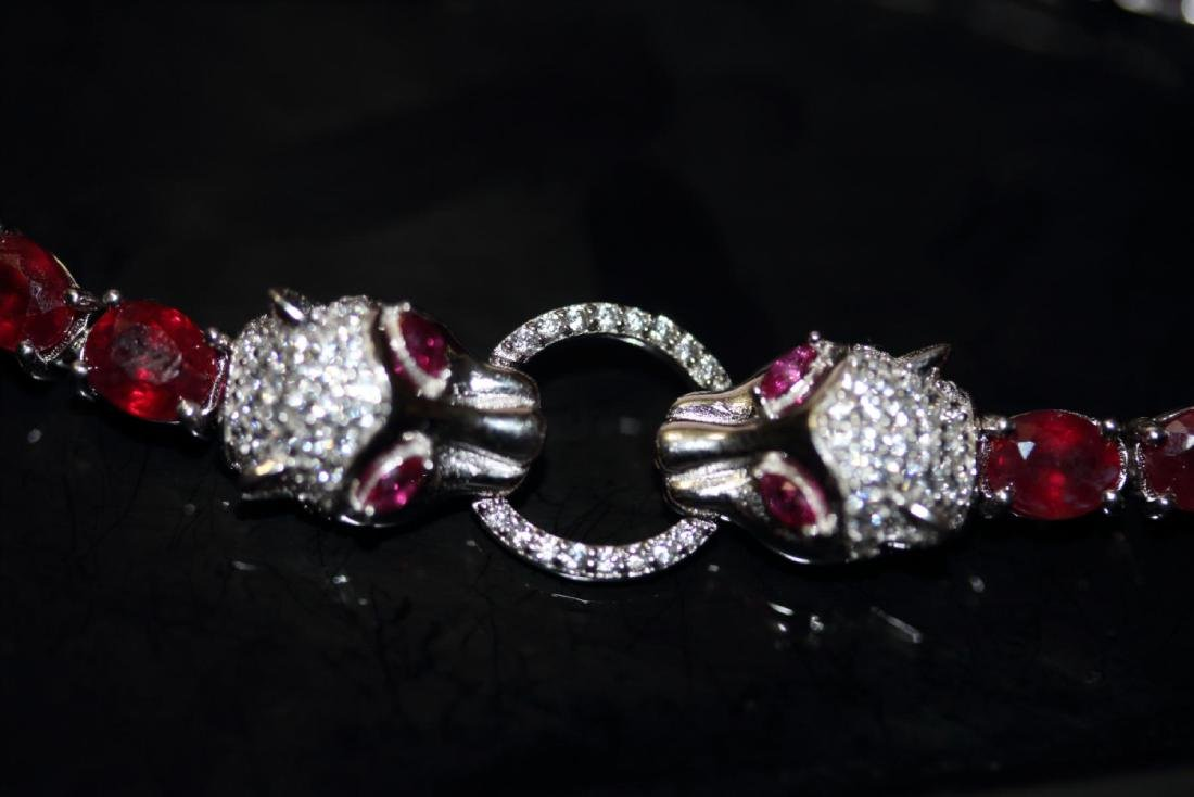 Natural Red Ruby 51 Carats Bracelet - 3