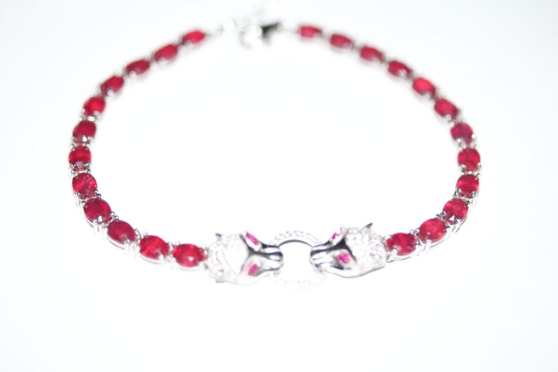 Natural Red Ruby 51 Carats Bracelet - 4