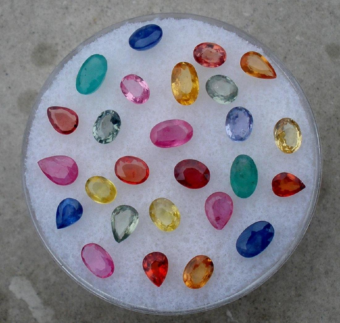 Mix Gems Emerald Ruby & Sapphire 5 carats Plus