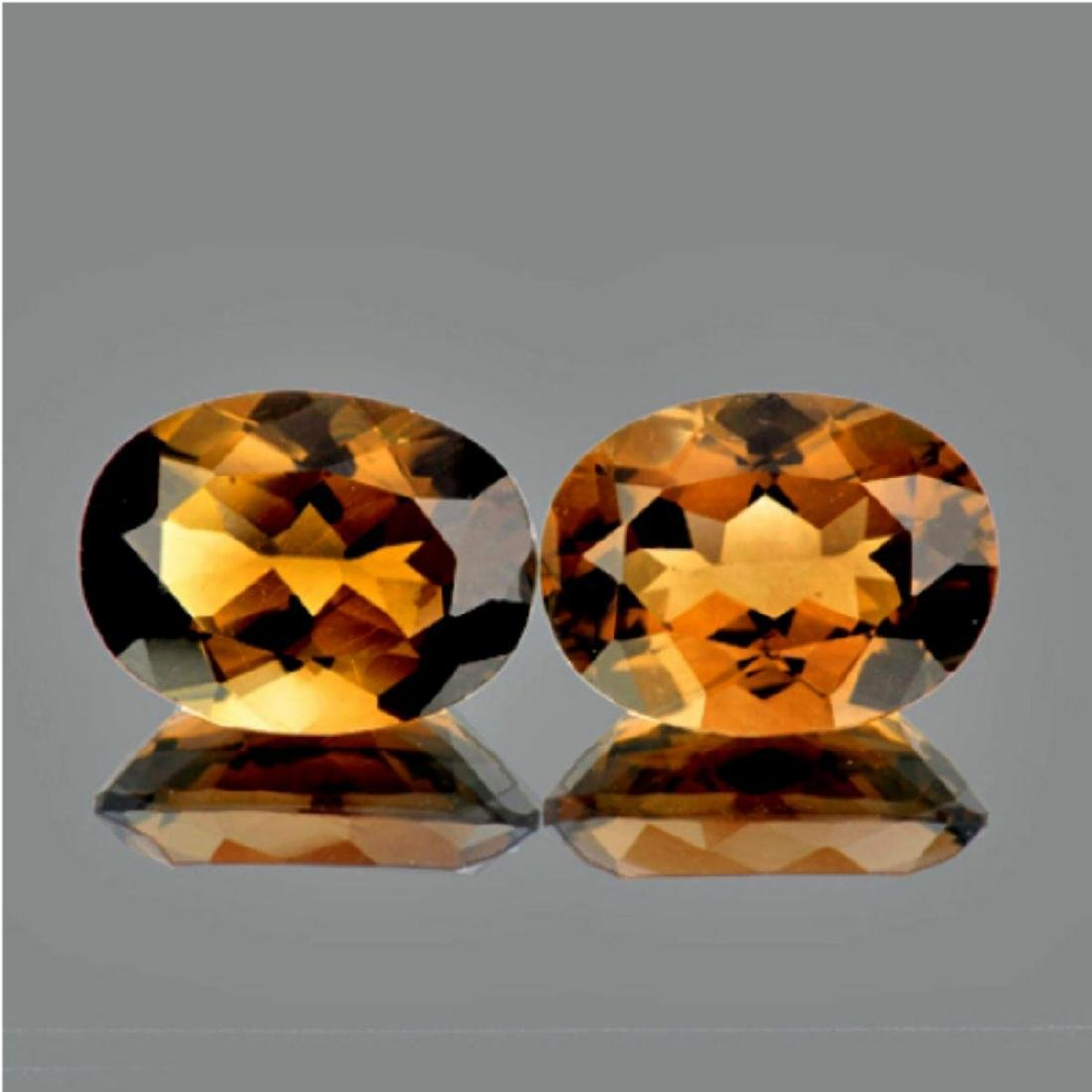 Natural Smoky Topaz Pair 15.10 (16 x 12 MM) Ct - VVS