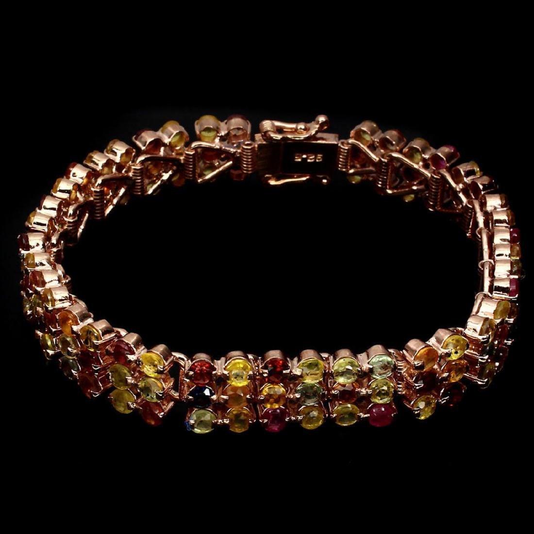 Natural Stunning Fancy Sapphire 140.14 Ct Bracelet - 2