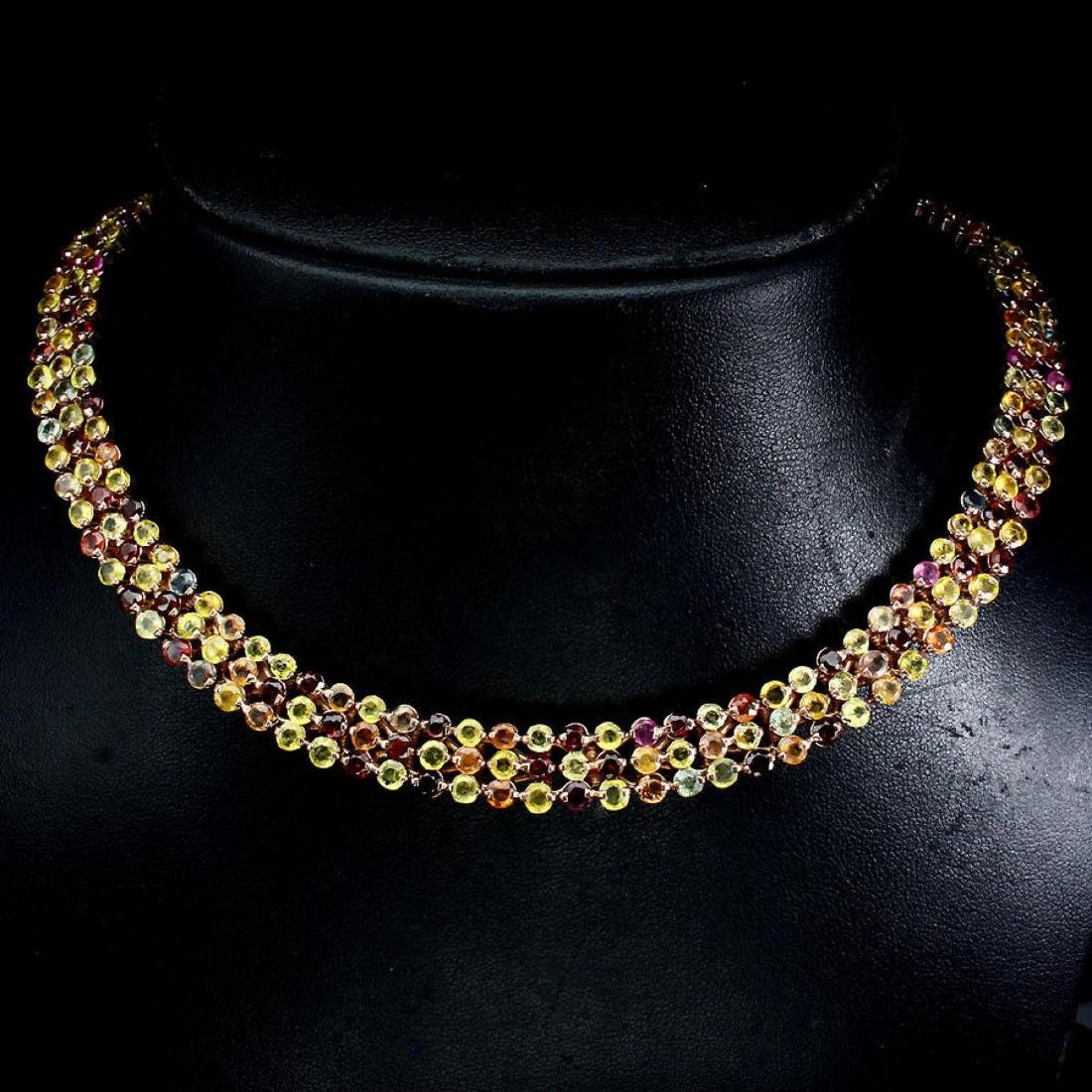 Natural Stunning Fancy Sapphire 351.54 Carats Necklace