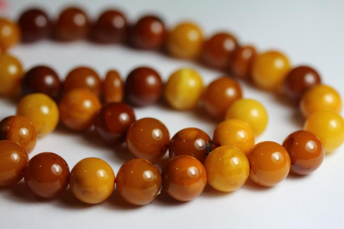 Natural Amber Islamic Prayer 33 Beads Tasbih - 3