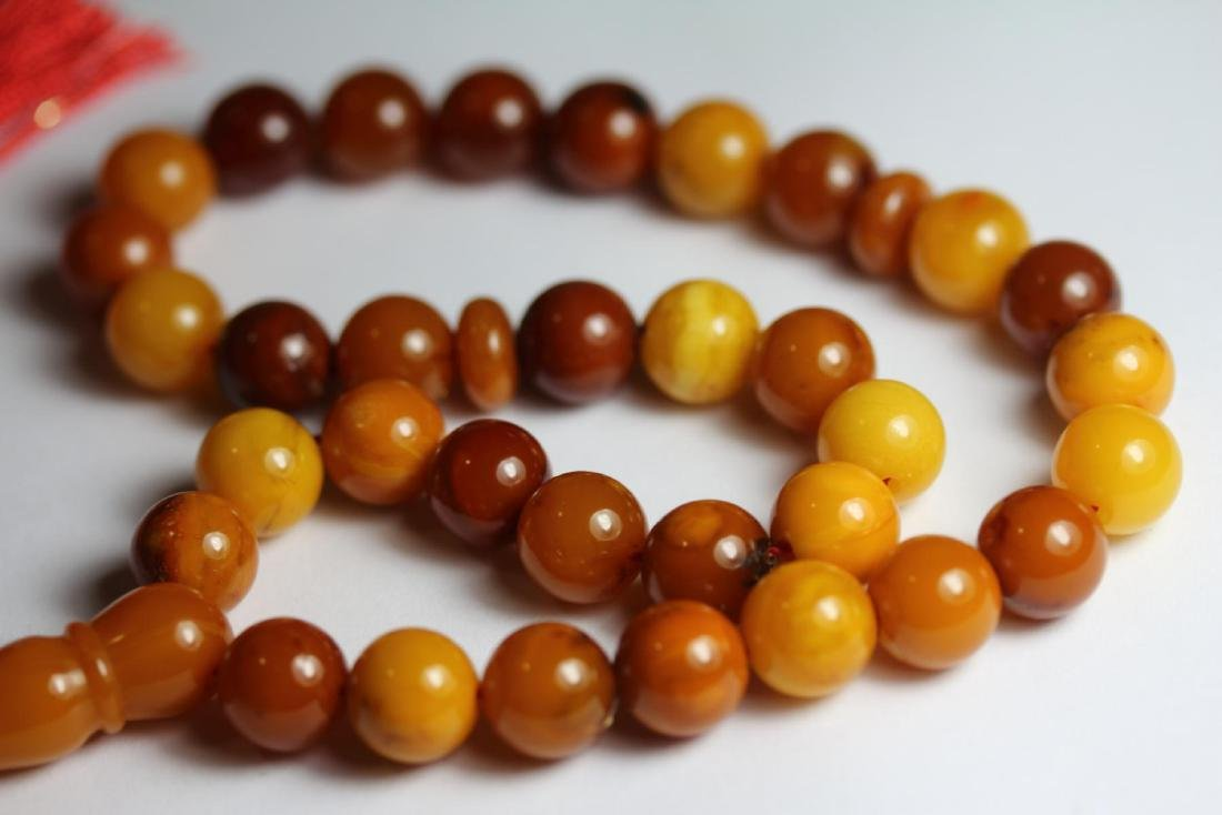 Natural Amber Islamic Prayer 33 Beads Tasbih - 4