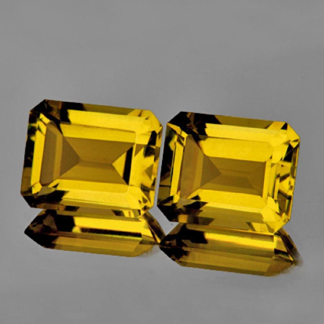 Natural AAA Golden Yellow Citrine Pair {Flawless-VVS1}