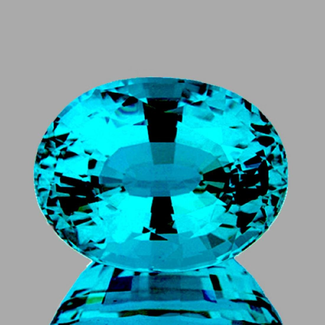 Natural Premium Electric Blue Zircon 3.54 Ct {Flawless}