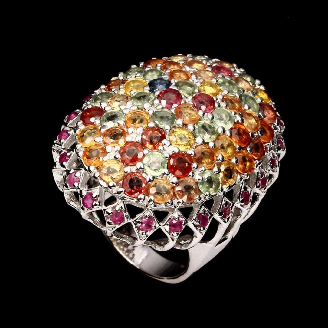 Natural Ruby & Fancy Sapphire 65 Carats Ring