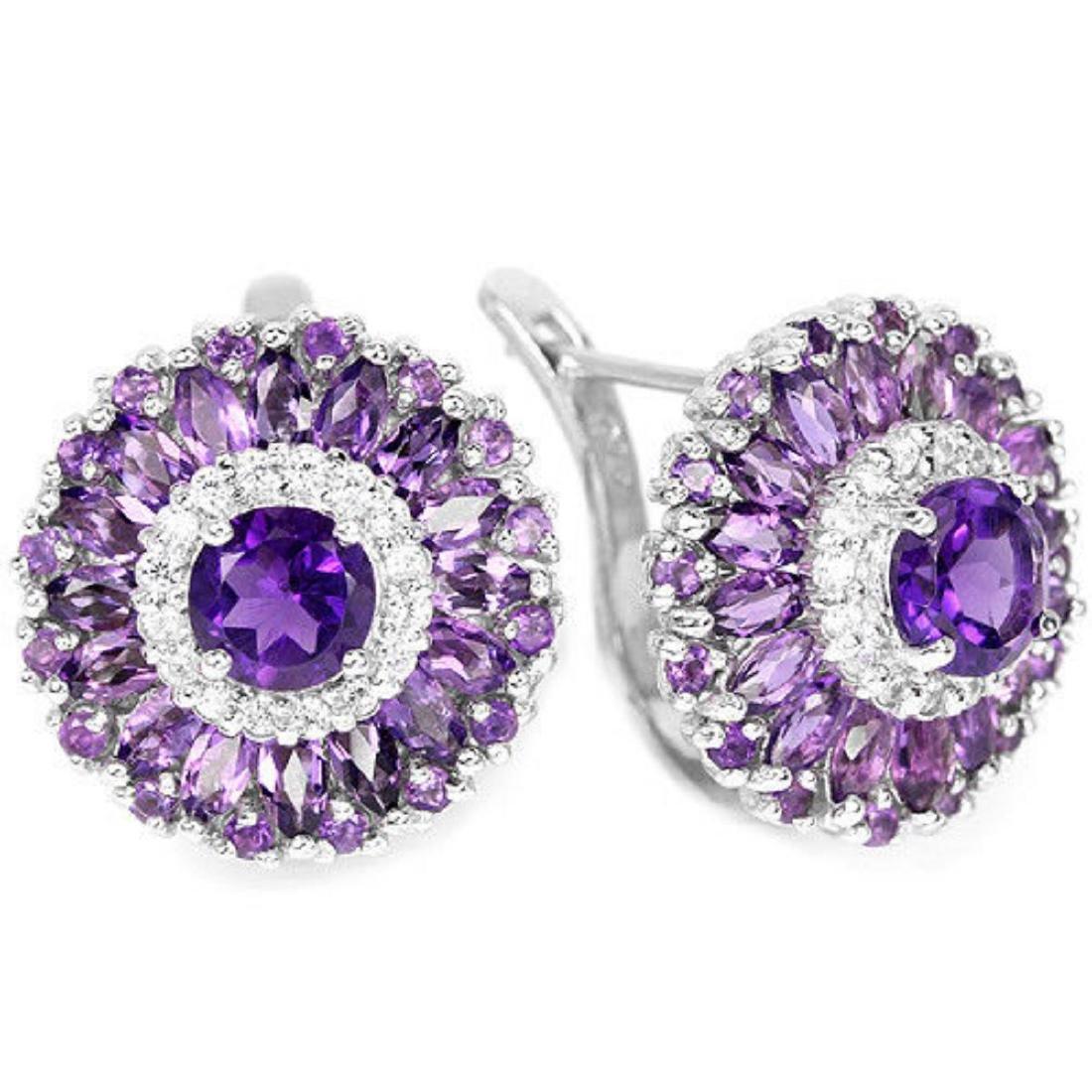 NATURAL AAA PURPLE AMETHYST Earrings