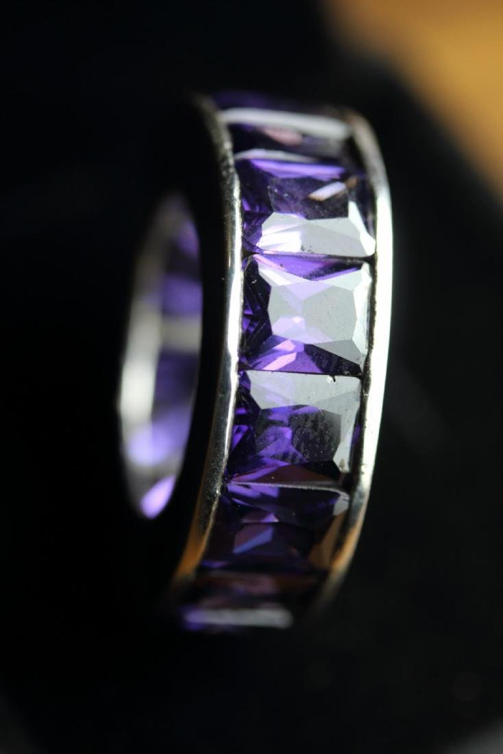 Stunning Amethyst Eternity Band 45.25 Carats - 2