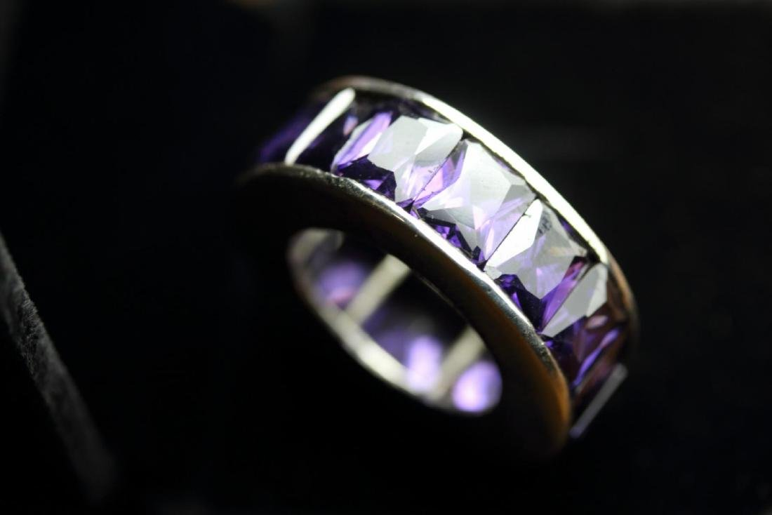 Stunning Amethyst Eternity Band 45.25 Carats - 4