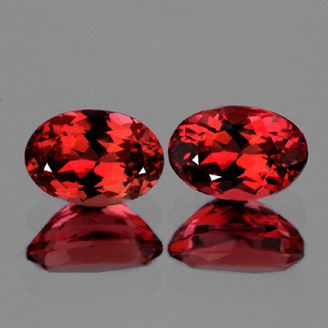 Natural AAA Red Ruby Pair 6x4 MM - VVS