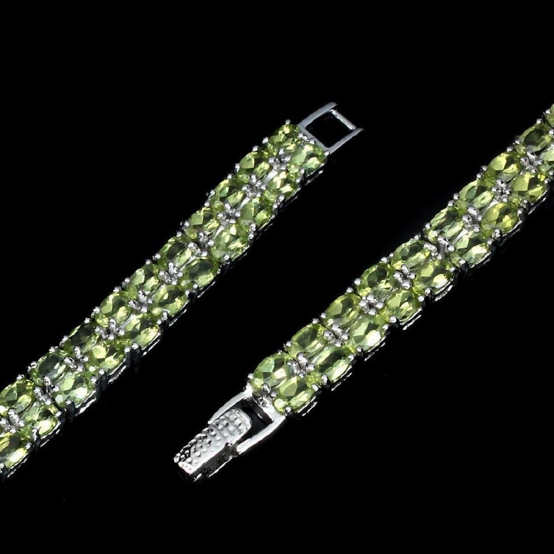 Natural Green Peridot 100.33 Carats Bracelet - 3