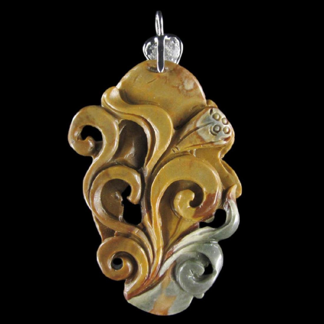 Hand Craved Turtle Pendant - 2