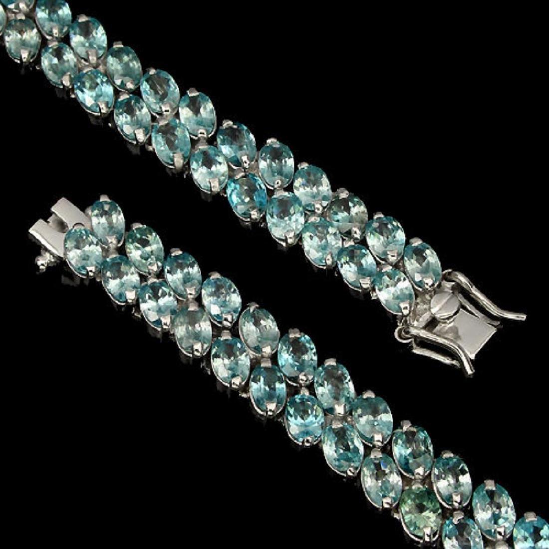 Nautral Combodian Zircon 146 Carats Bracelet - 2