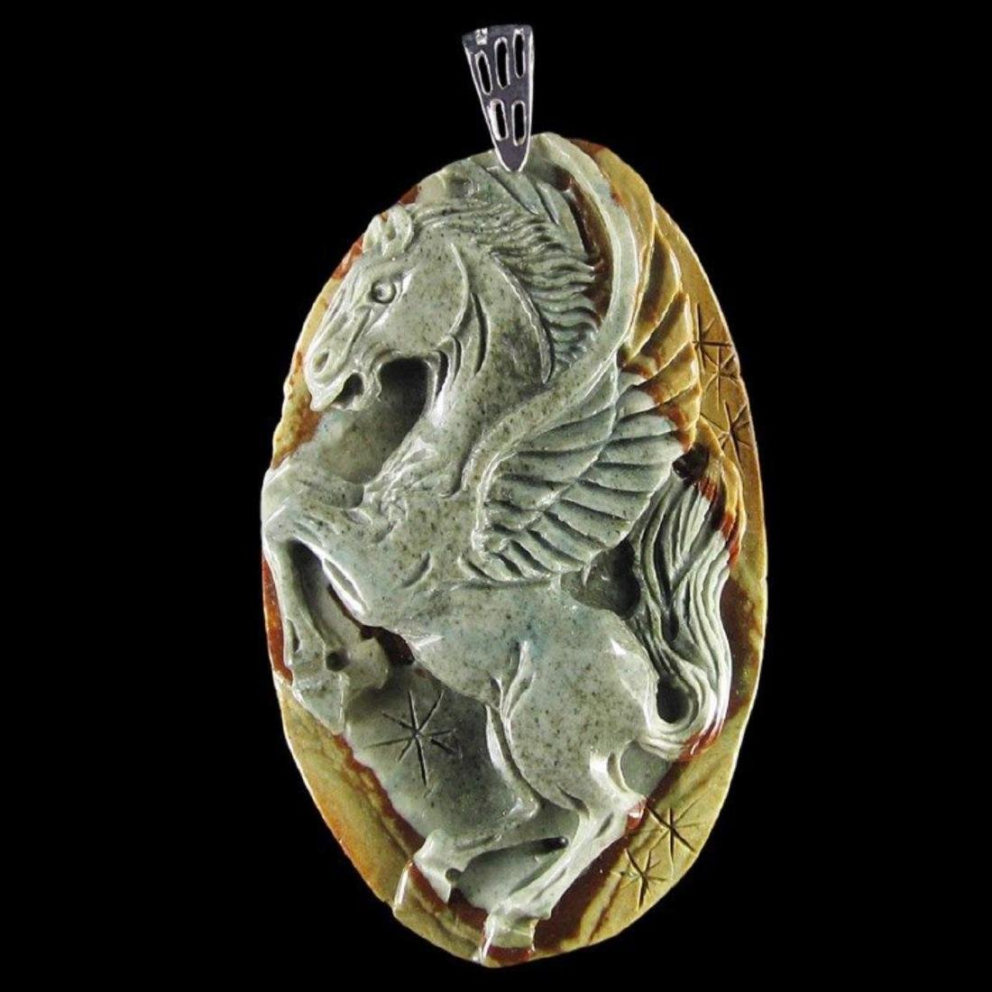 Natural Stone Hand carved Pendant - 3