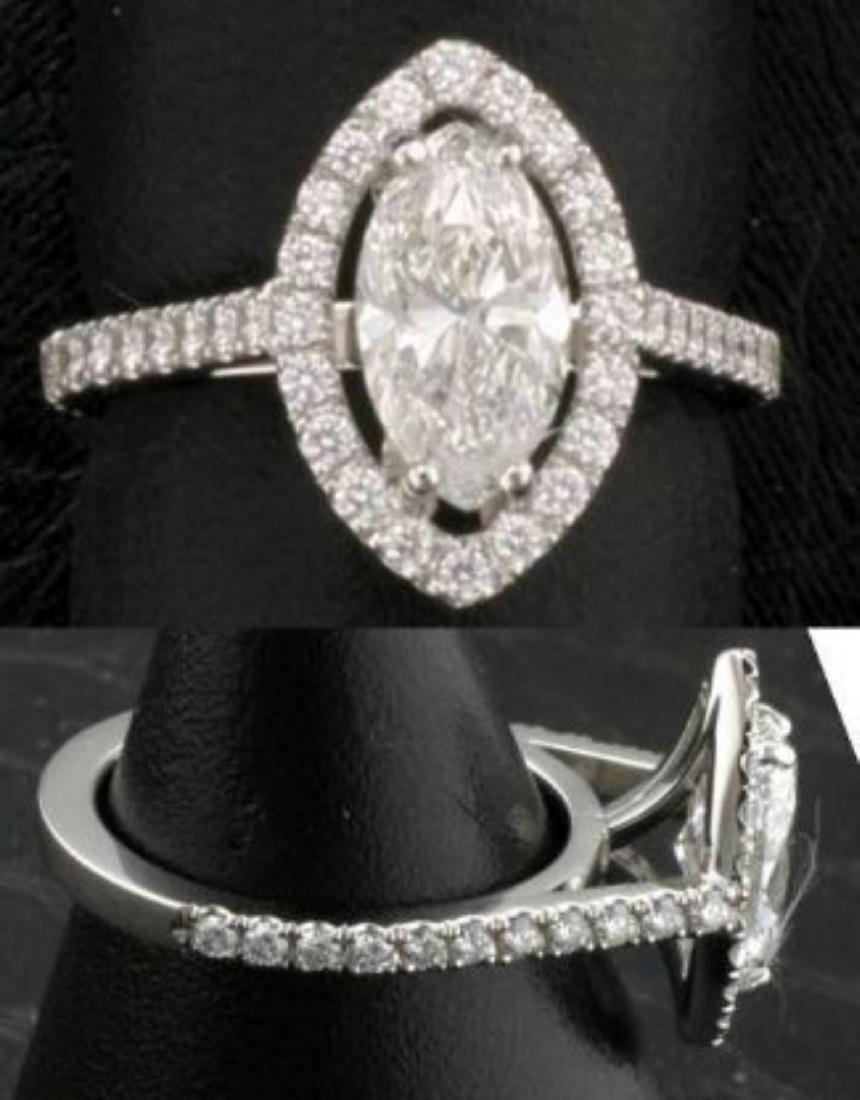 Diamond F/I 1.12 carats & Solid Gold Ring -EGL