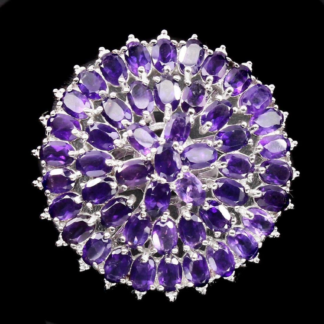 Natural Top Intense Purple Amethyst 120 Cts Ring - 2