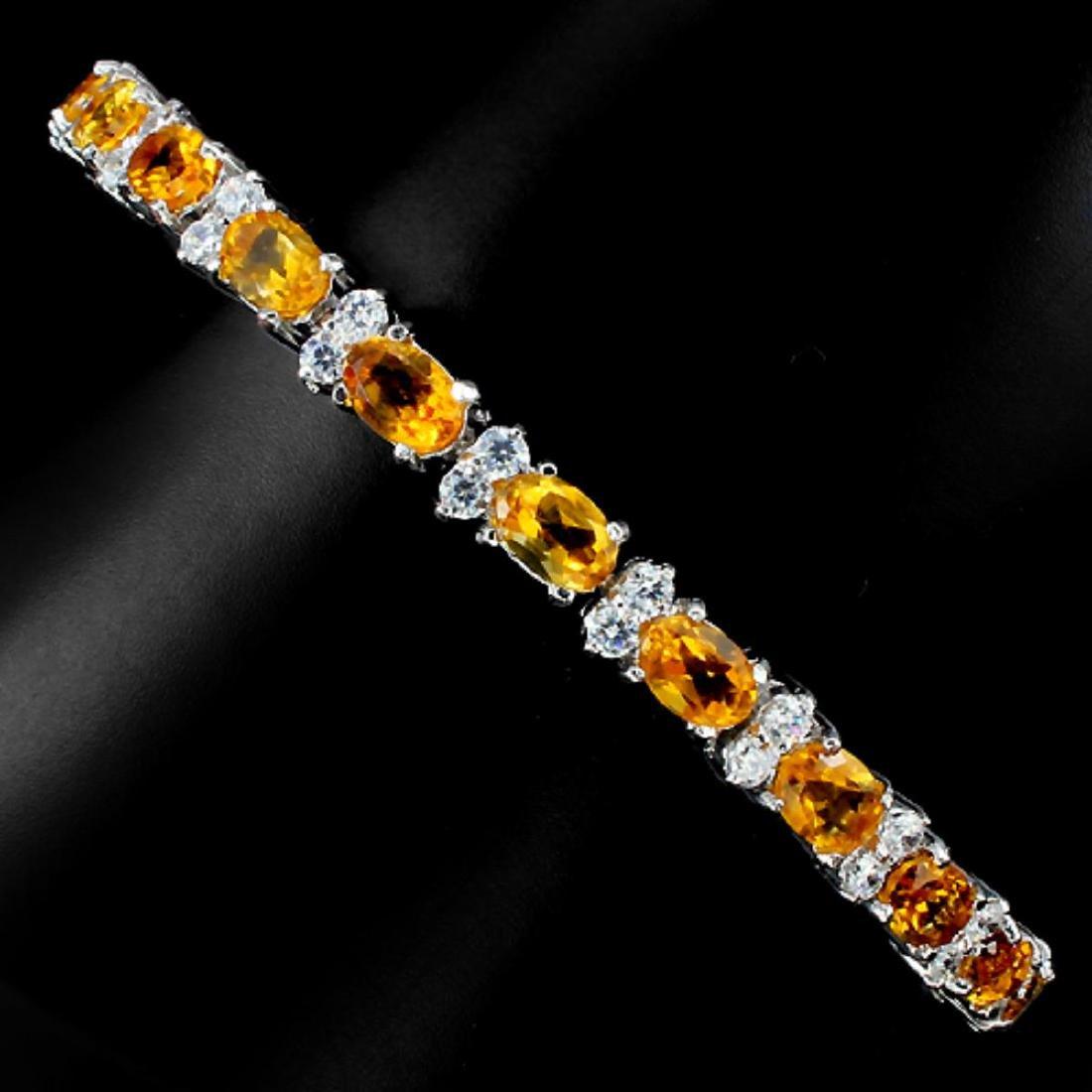 Natural Golden Yellow Citrine Bracelet