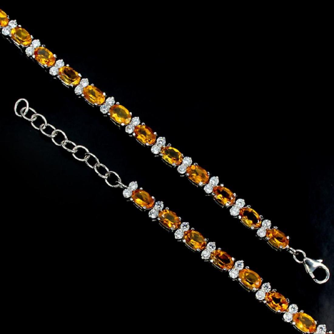 Natural Golden Yellow Citrine Bracelet - 2