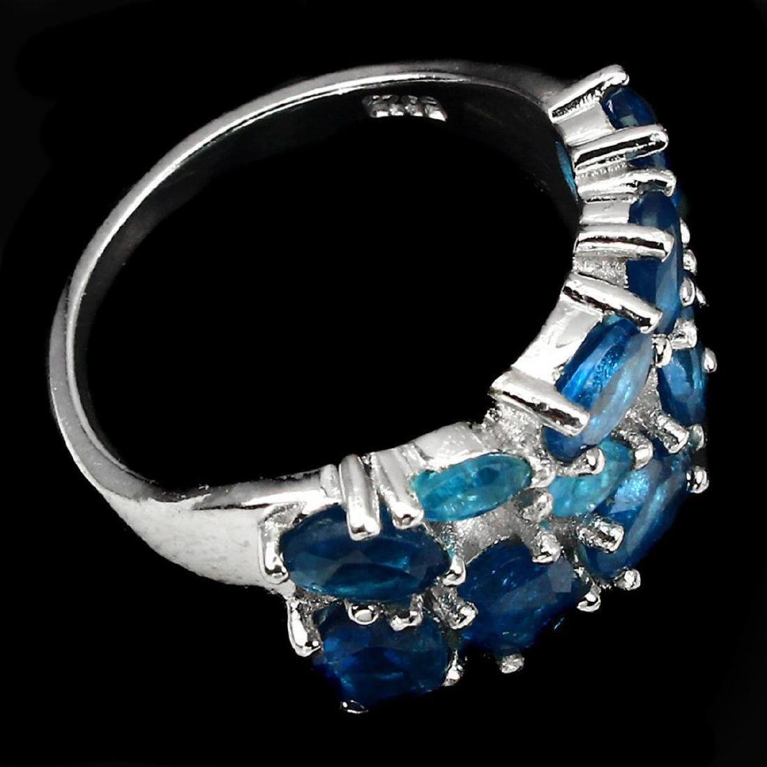 Natural AAA Paraiba Blue Apatite Ring - 3