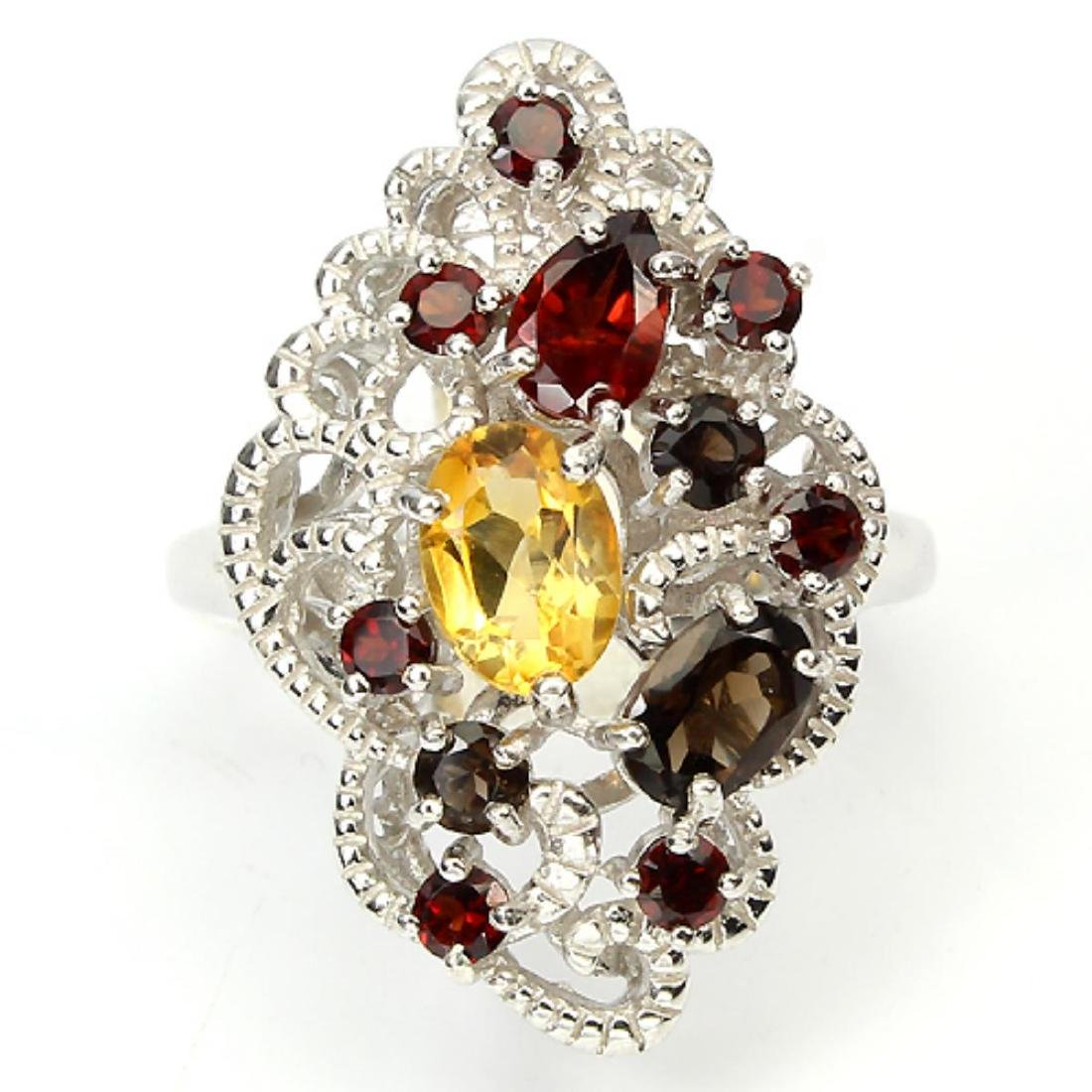 Stunning Natural Garnet Ring - 2