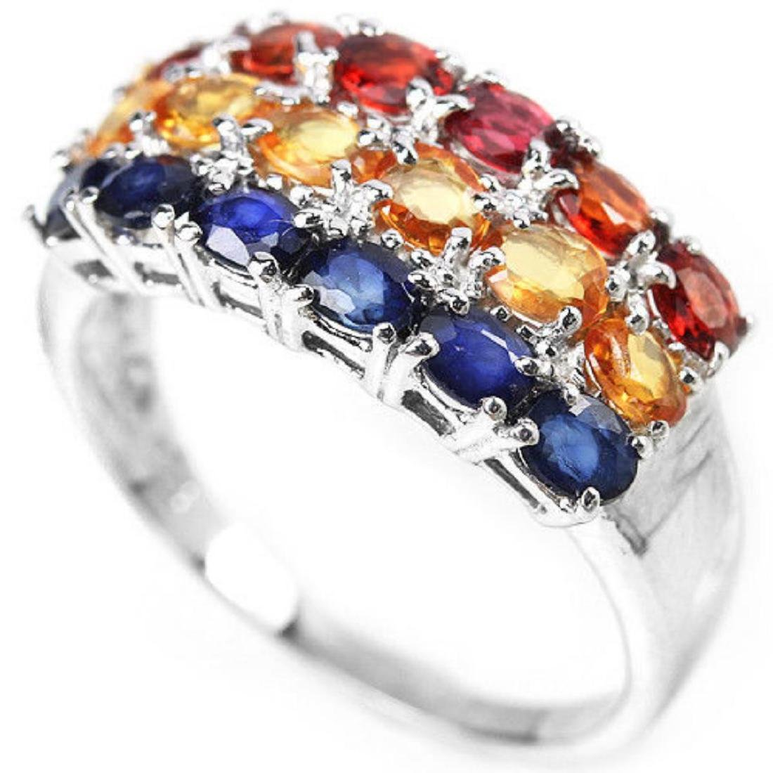 Natural MULTI COLOR SAPPHIRE Ring - 2