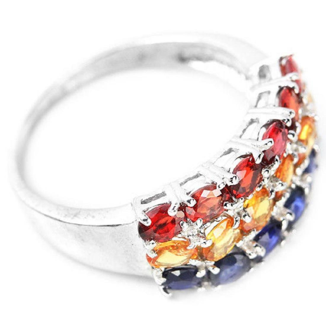 Natural MULTI COLOR SAPPHIRE Ring - 3