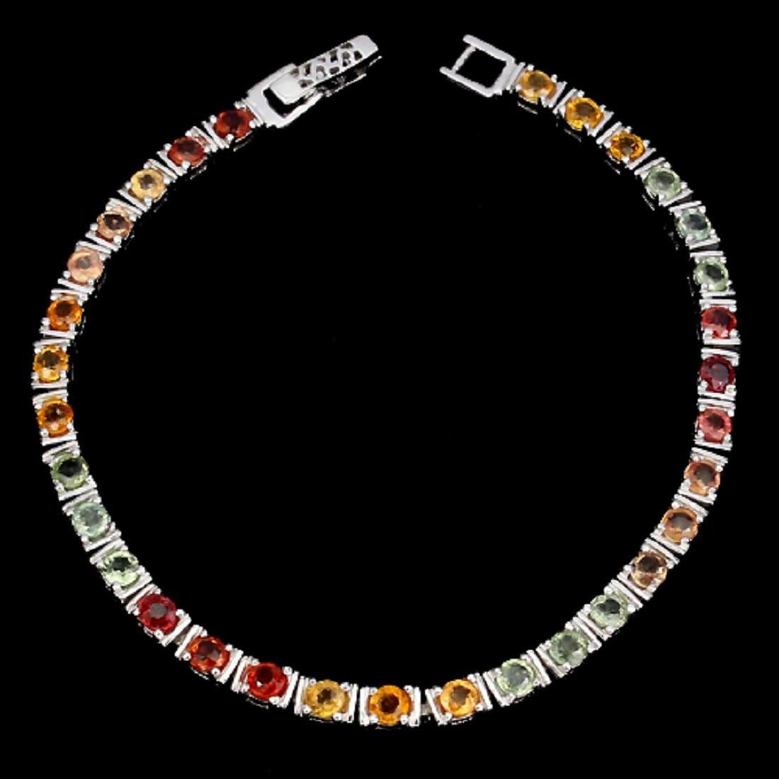 Natural Fancy Multi Color Sapphire Bracelet - 2
