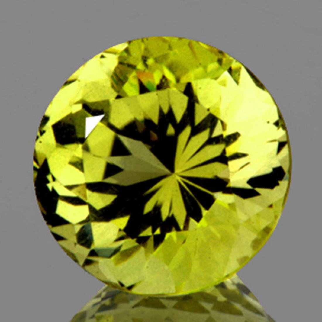 Natural Green Gold Lemon Quartz 10.50 MM - VVS