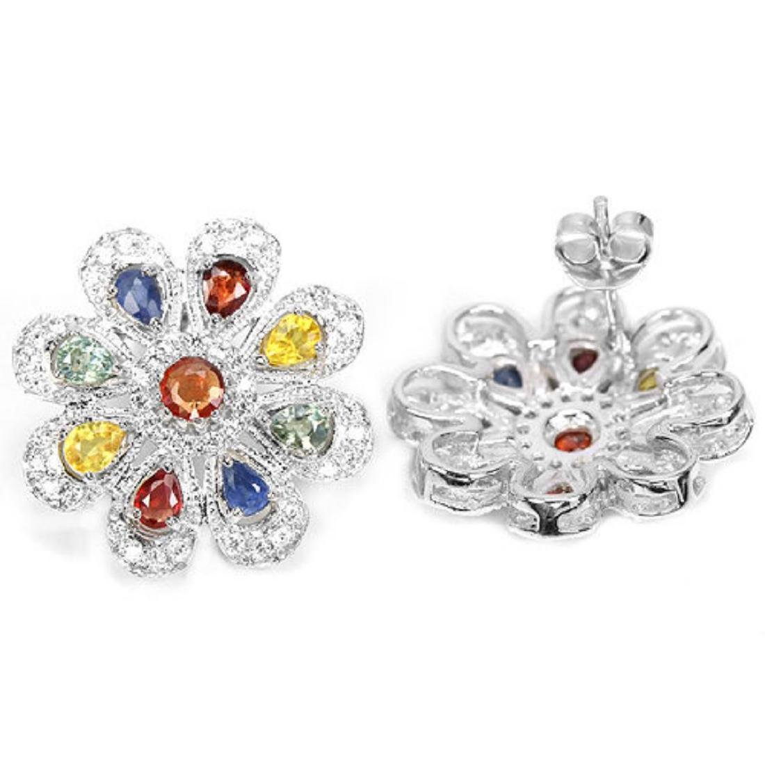 Natural Fancy Color Sapphire 41 Carats Earrings - 3