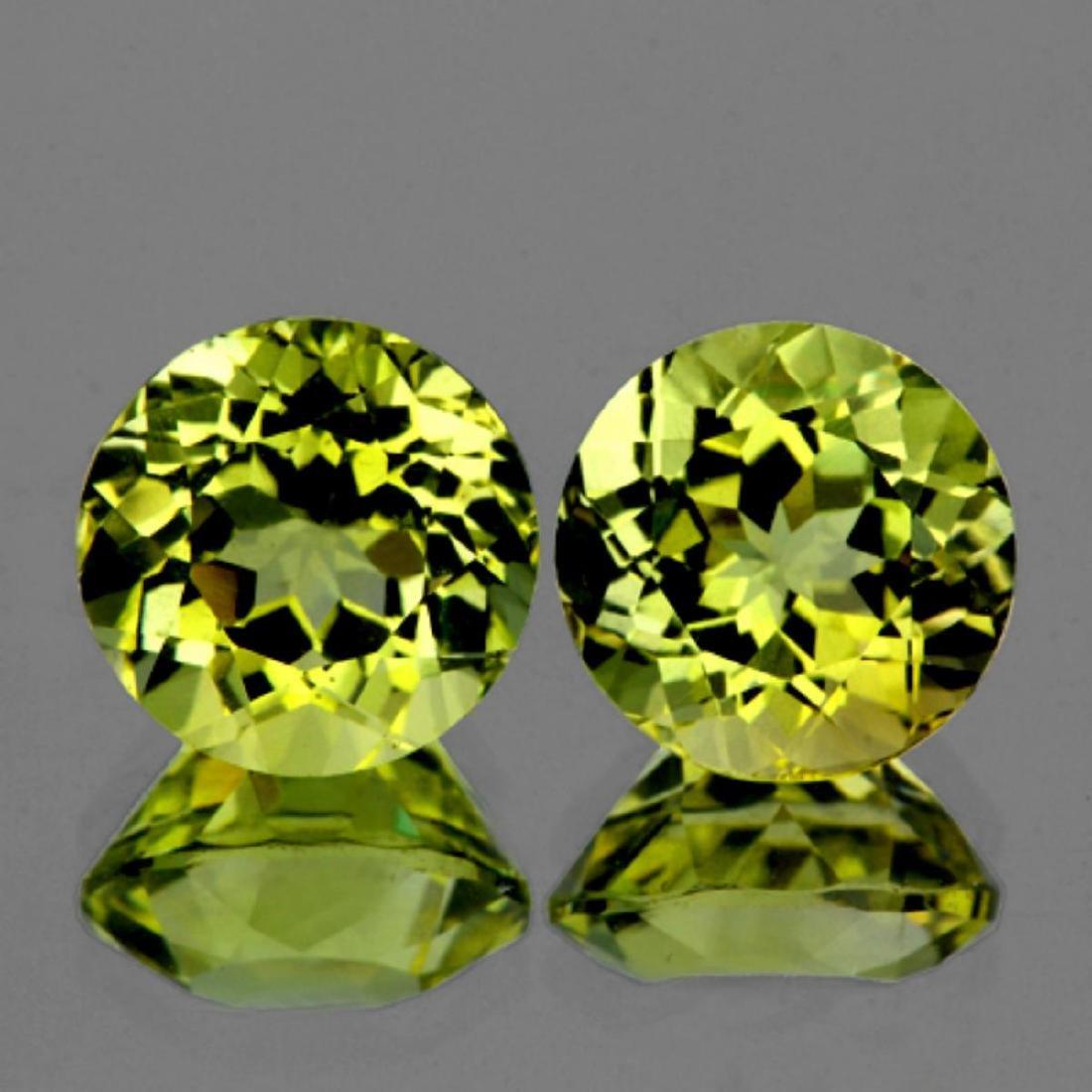 Natural Green Gold Lemon Quartz Pair 12.00 MM - VVS