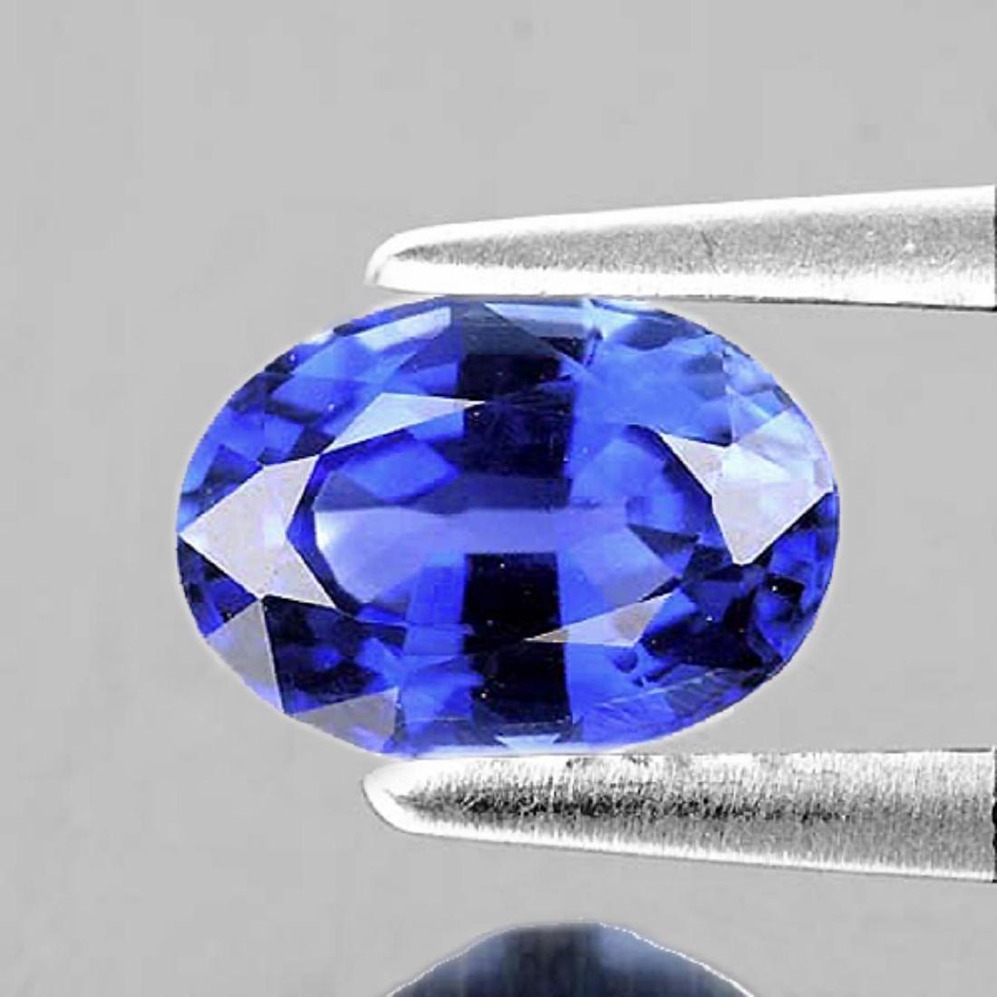 Natural Purplish Blue Sapphire 6x4 MM - Flawless