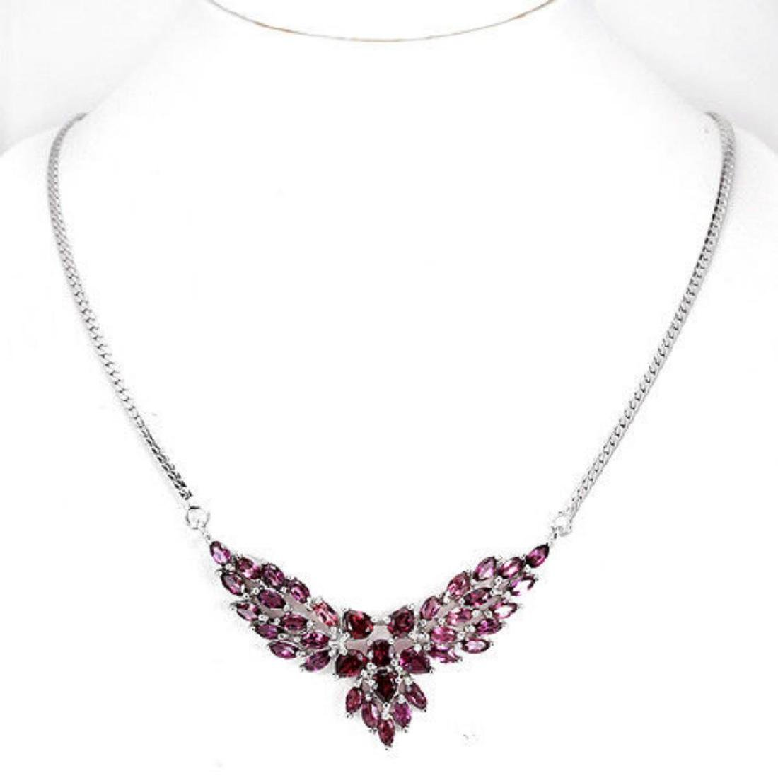 NATURAL PURPLE PINK RHODOLITE GARNET Necklace - 2