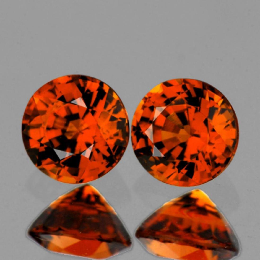 Natural Mandarin Orange Spessartite Garnet Pair - FL