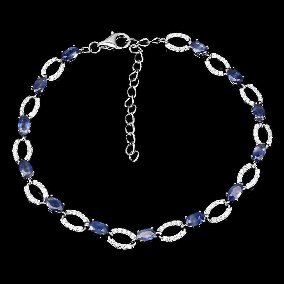 Natural Blue Sapphire Bracelet - 2