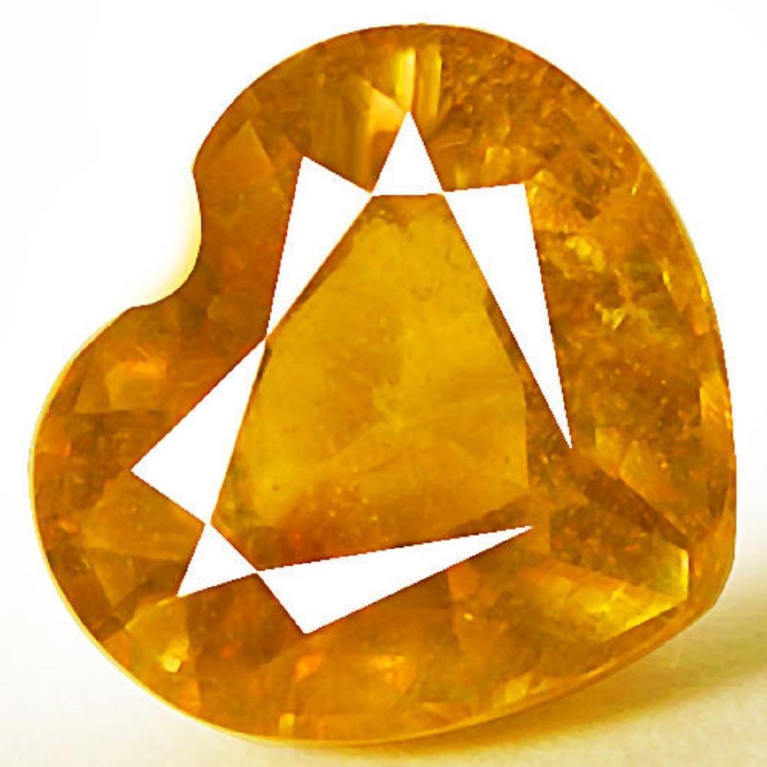 Natural Heart Yellow Sapphire 3.45 Carats