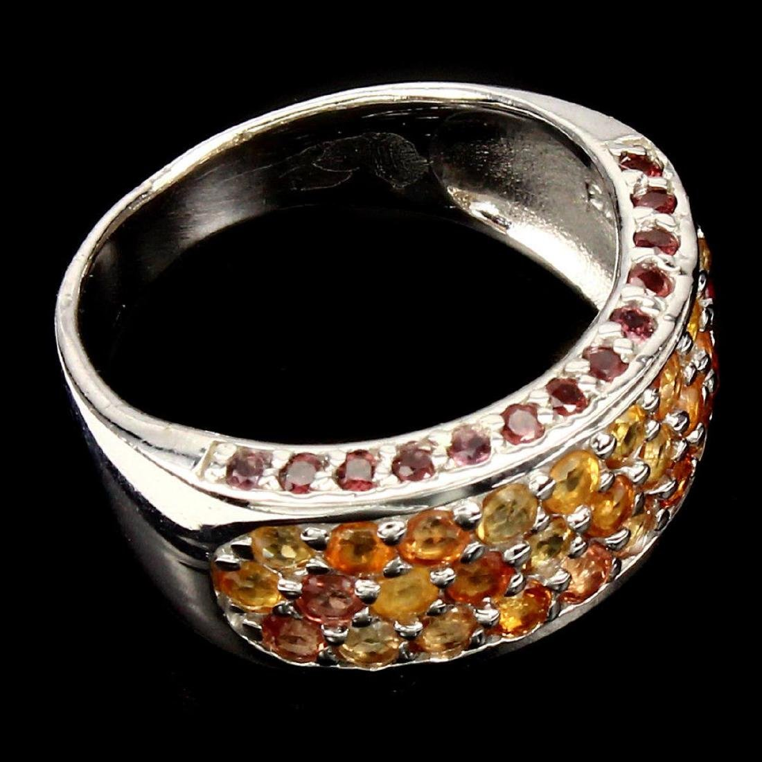 Natural  Fancy Sapphire Rhodolite Garnet Ring - 2