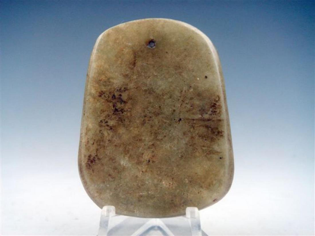 Chinese Jade Mouse Family Steal Treasure Pendant - 3