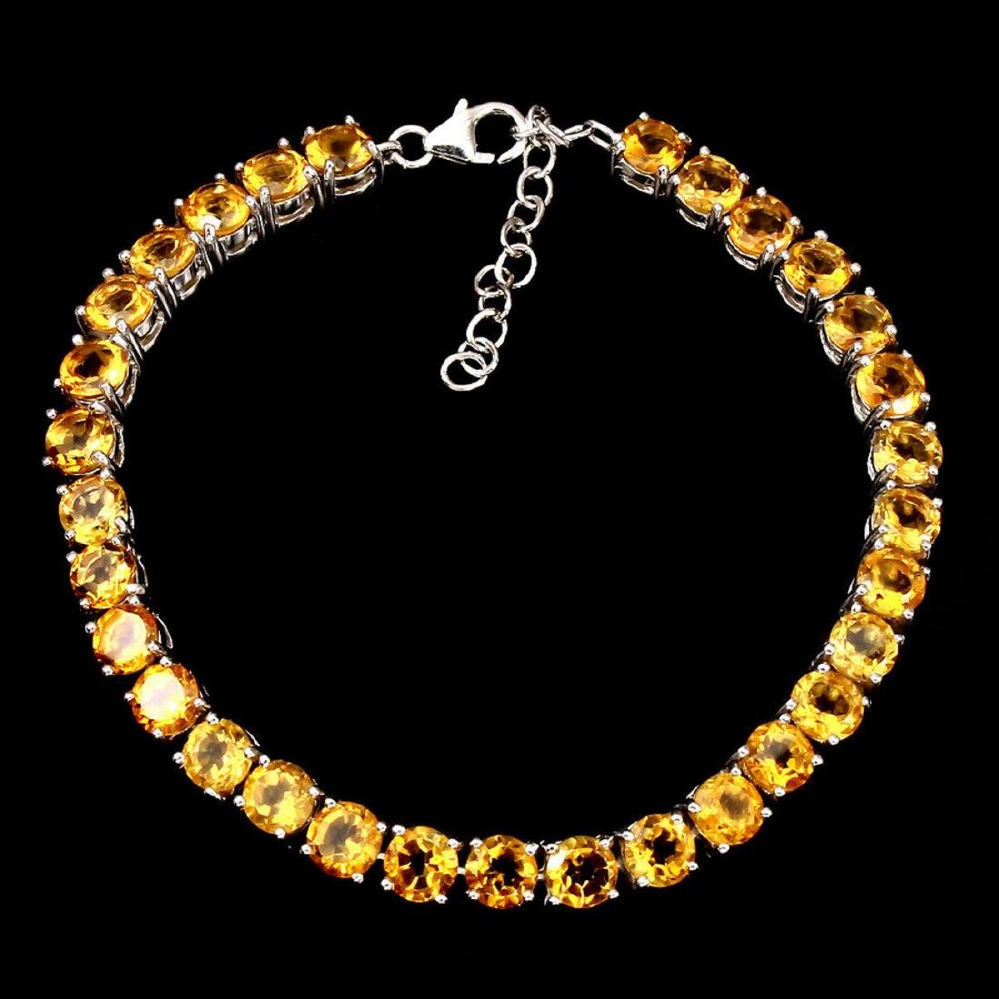 Natural Top Rich Yellow Citrine 70.70 Cts Bracelet - 2